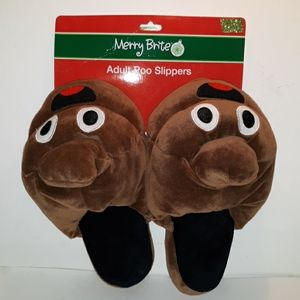 Adult Christmas 7-8 poo slippers